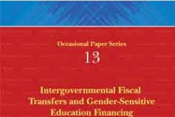 Intergovernmental Fiscal Transfers and Gender Sensitive Education Financing