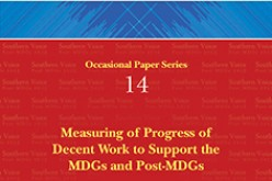 Measuring of Progress of Decent Work to Support the MDGs and Post-MDGs
