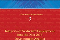 Integrating Productive Employment into the Post-2015 Development Agenda