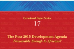 The Post-2015 Development Agenda: Favourable Enough to Africans?