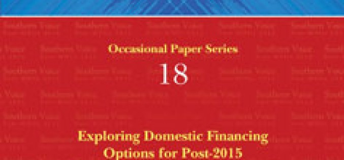Exploring Domestic Financing Options for Post-2015 Development Agenda in Selected Sub-Saharan African Countries