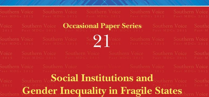 Social Institutions and Gender Inequality in Fragile States: Are They Relevant for the Post-MDG Debate?