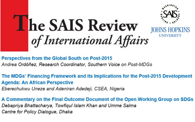 Southern Perspectives on Post-2015 issues: Three publications