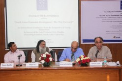 "Debapriya Bhattacharya (CPD – Bangladesh), Ganga Tilakaratna and Bilesha Weeraratne (IPS – Sri Lanka) join ""South Asian Economic Development: The Way Forward"" at New Delhi"