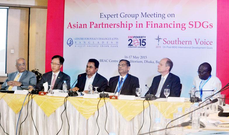 (left) Debapriya Bhattacharya, H E Lee Yun-young, A H M Mustafa Kamal, MP, Mustafizur Rahman, Robert Watkins and Sering Falu Njie