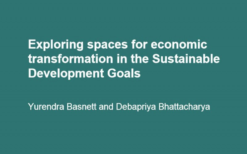 Exploring spaces for economic transformation in the Sustainable Development Goals