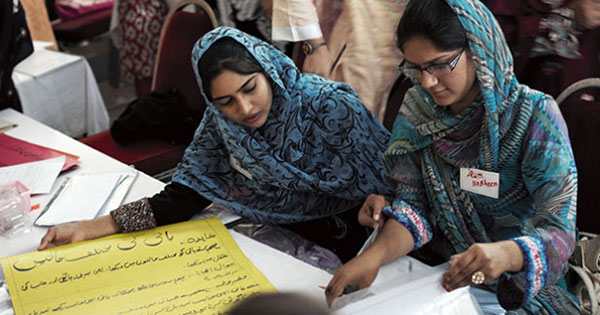 Teachers undertake a science training workshop at the Developments in Literacy in Islamabad. What skills should aspiring development practitioners learn now to secure a job? Photo by: Kristian Buus / STARS Foundation / CC BY-NC-ND