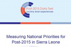 Post-2015 Data Test: Sierra Leone's Country Report released