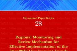 Regional Monitoring and Review Mechanism for Effective Implementation of the Post-2015 Development Agenda