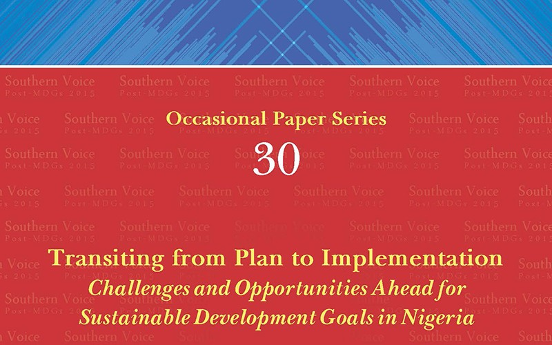Transiting from Plan to Implementation: Challenges and Opportunities Ahead for Sustainable Development Goals in Nigeria