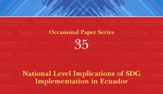 National Level Implications of SDG Implementation in Ecuador
