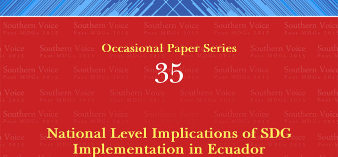 National Level Implications of SDG Implementation in Ecuador