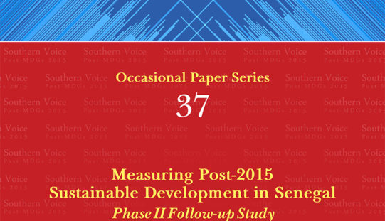 Measuring Post-2015 Sustainable Development in Senegal Phase II Follow-up Study