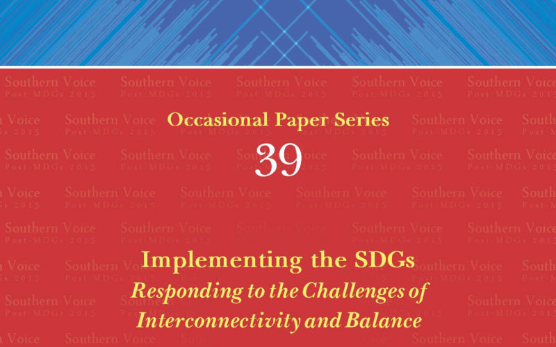 Implementing the SDGs Responding to the Challenges of Interconnectivity and Balance