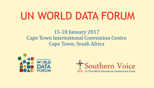 Southern Voice to host sessions at first-ever UN World Data Forum 2017