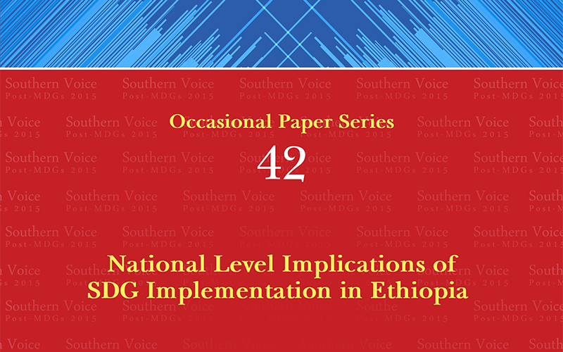 National Level Implications of SDG Implementation in Ethiopia