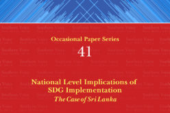 National Level Implications of SDG Implementation: The Case of Sri Lanka